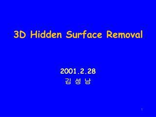 3D Hidden Surface Removal
