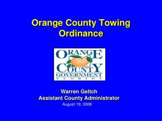 Orange County Towing Ordinance