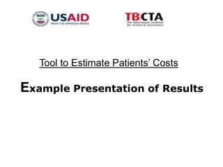 E xample Presentation of Results