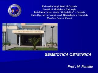 Universita' degli Studi di Catania Facoltà di Medicina e Chirurgia