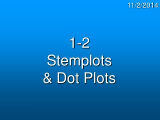1-2 Stemplots & Dot Plots