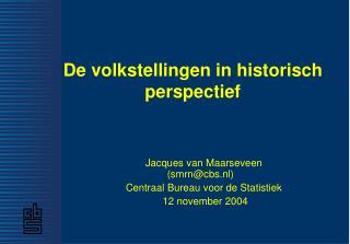 De volkstellingen in historisch  perspectief