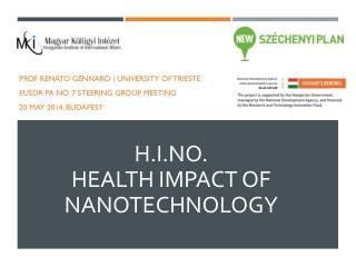 H.I.NO.  Health Impact of Nanotechnology