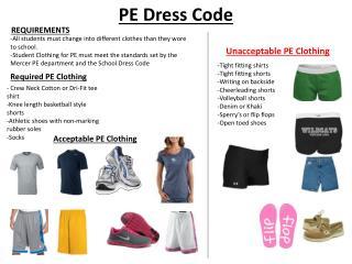 PE Dress Code