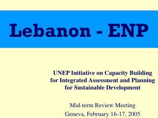 Lebanon - ENP
