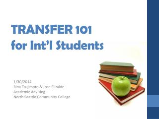 TRANSFER 101 for Int�l Students