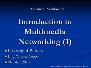 Introduction to Multimedia Networking (1)