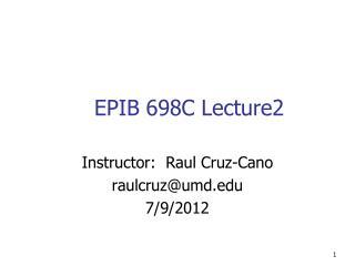 EPIB 698C Lecture2