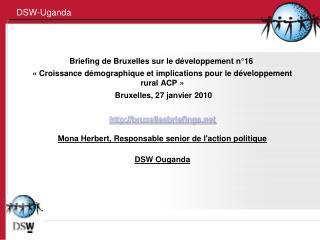 Briefing de Bruxelles sur le développement n°16