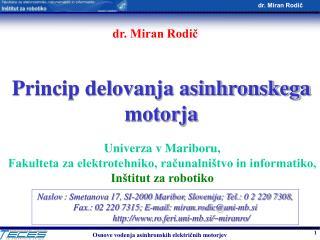 Princip delovanja asinhronskega motorja