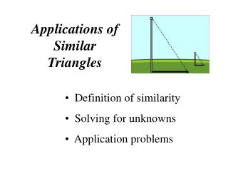 Applications of Similar Triangles
