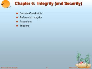 Chapter 6:  Integrity (and Security)