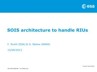 SOIS architecture to handle RIUs