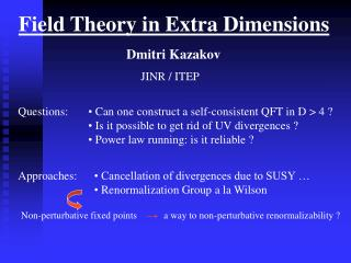 Field Theory in Extra Dimensions