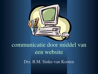 communicatie door middel van een website
