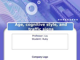 Age, cognitive style, and traffic signs
