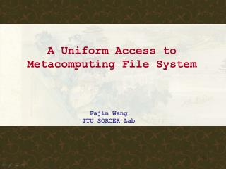 A Uniform Access to Metacomputing File System