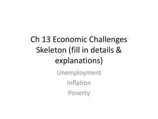 Ch 13 Economic Challenges Skeleton (fill in details & explanations)