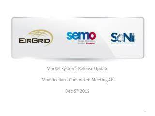 Market Systems Release Update Modifications Committee Meeting 46  Dec 5 th  2012