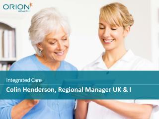 Colin Henderson, Regional Manager UK & I