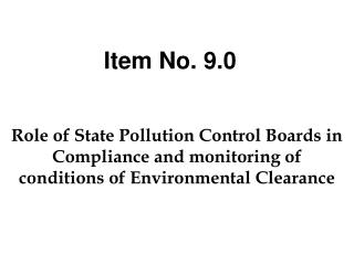 Role of State Pollution Control Boards in