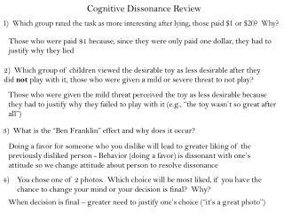 Cognitive Dissonance Review