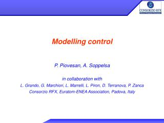 Modelling control