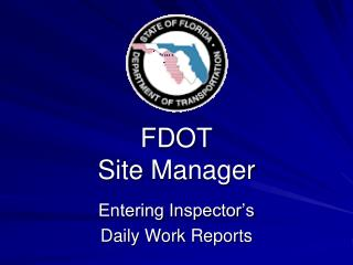 FDOT  Site Manager