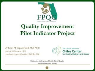 Quality Improvement Pilot Indicator Project