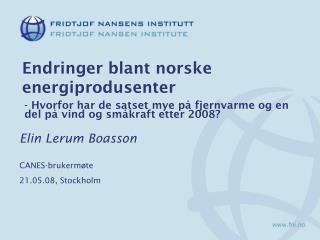 Endringer blant norske energiprodusenter