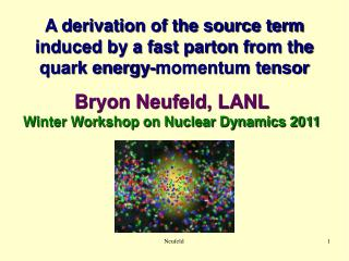 A derivation of the source term  induced by a fast parton fr om the  quark energy-momentum tensor