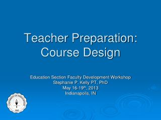 Teacher Preparation: Course Design