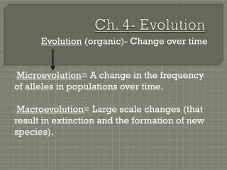 Ch. 4- Evolution