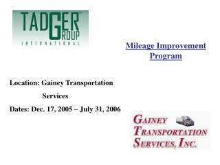 Mileage Improvement Program