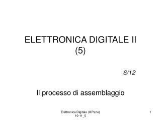 ELETTRONICA DIGITALE II (5)
