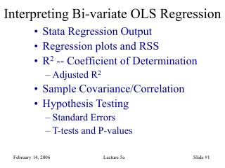 Interpreting Bi-variate OLS Regression
