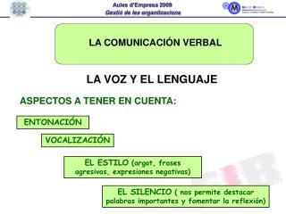 LA COMUNICACI N VERBAL