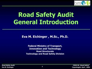 Road Safety Audit  General Introduction