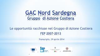 GAC Nord Sardegna Gruppo  di Azione Costiera FEP 2007-2013