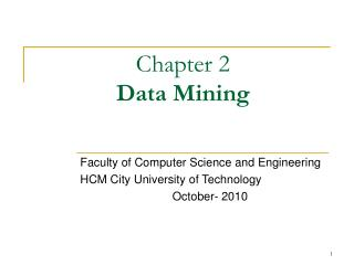 Chapter 2 Data Mining