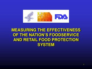 MEASURING THE EFFECTIVENESS OF THE NATION'S FOODSERVICE AND RETAIL FOOD PROTECTION SYSTEM