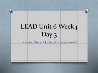 LEAD Unit 6 Week4 Day 3