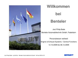 Willkommen bei  Benteler