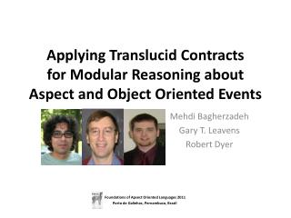 Applying Translucid Contracts  for Modular Reasoning about Aspect and Object Oriented Events