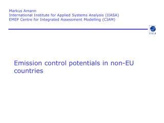 Emission control potentials in non-EU countries