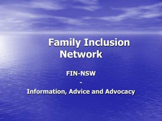 Family Inclusion Network