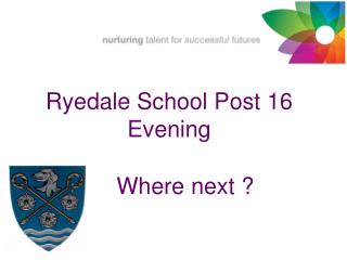 Ryedale School Post 16 Evening