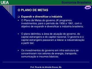 O PLANO DE METAS
