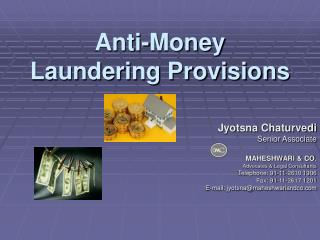 Anti-Money Laundering Provisions