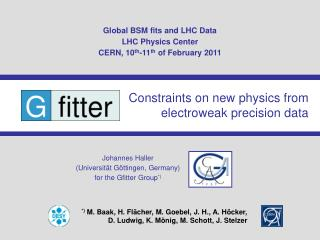 Global BSM fits and LHC Data LHC Physics Center CERN, 10 th -11 th  of February 2011